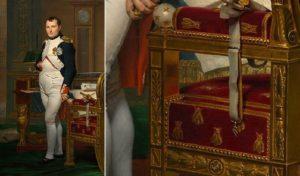 Napoleon in Masonic Pose with Illuminati Bee Symbol