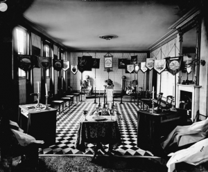 Public-domain photo of the Masonic Hall in Bury St. Edmunds, Suffolk, England)